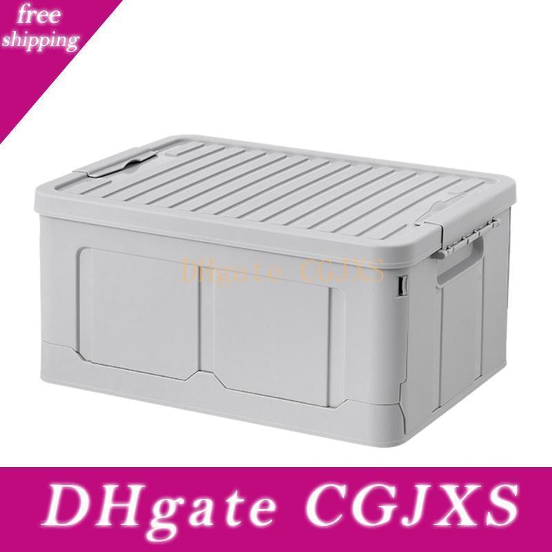 Boîte de rangement pliable Snack Toy Box de stockage Vêtements Accueil Dortoir C -Osmetics