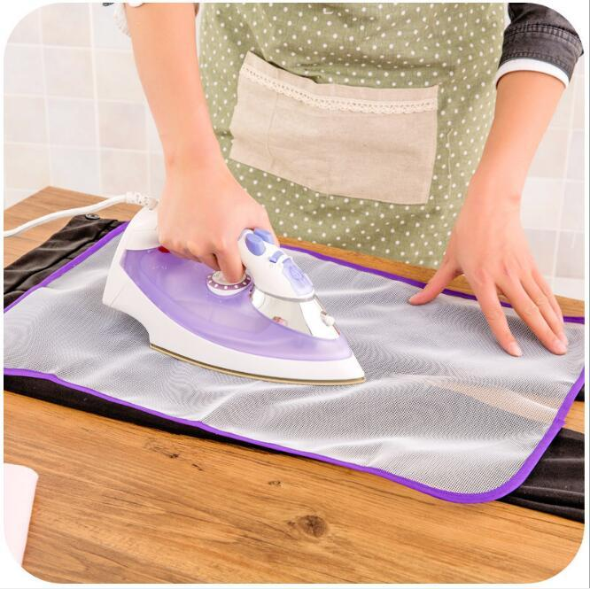 Alta temperatura de la resistencia del paño de planchado aislamiento de calor de tela de nylon malla tabla de planchar ropa Bastidores limpieza Organización HA1210