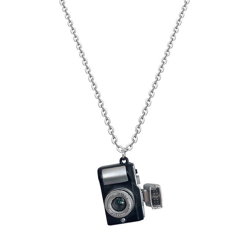 AD 2084 Luminoso pequeña cámara Normcore estilo collar sencillo muchachas frescas regalo Los niños y las