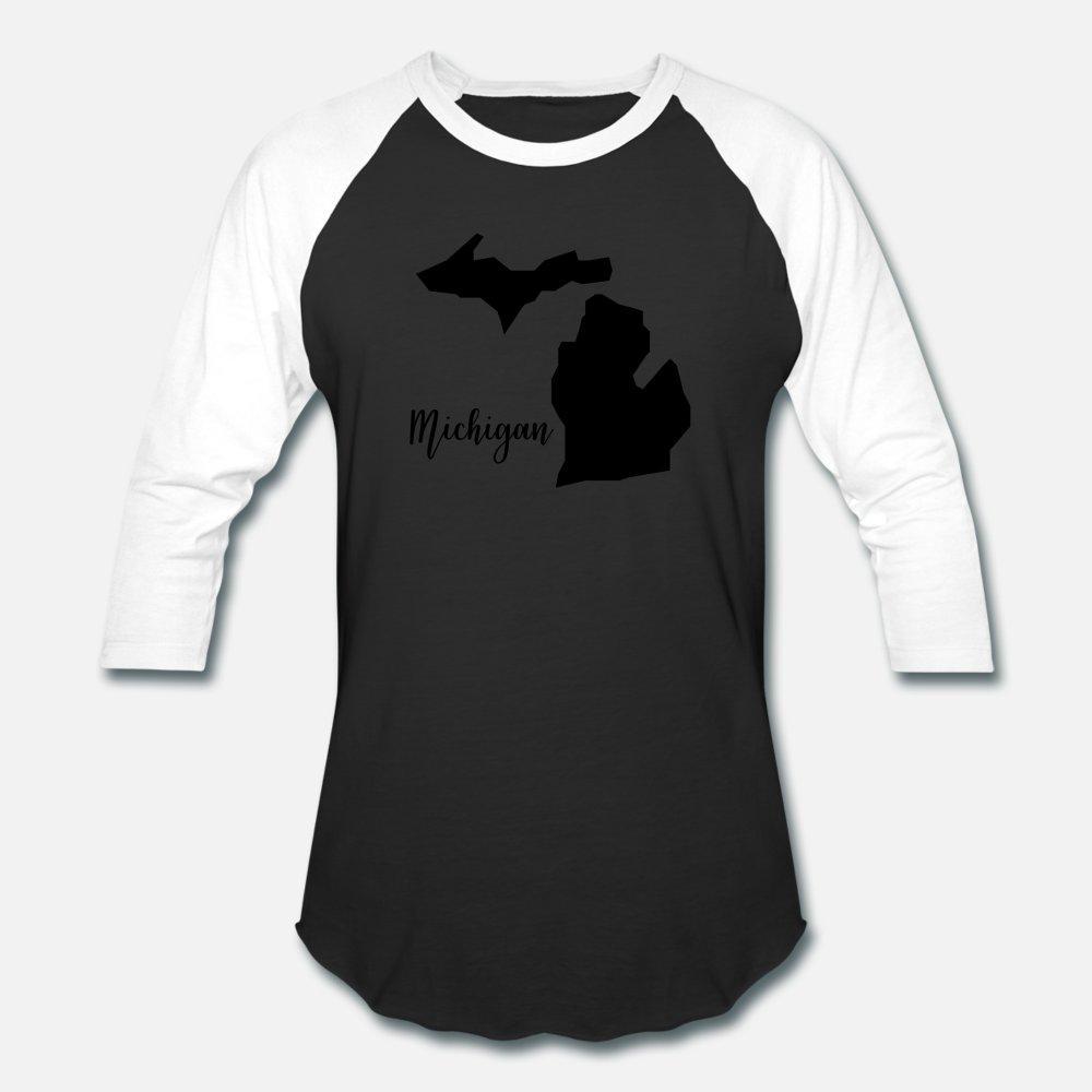 Michigan t shirt homme t-shirt personnalisé Euro Taille S-3XL Motif mignon drôle Casual chemise Printemps naturel