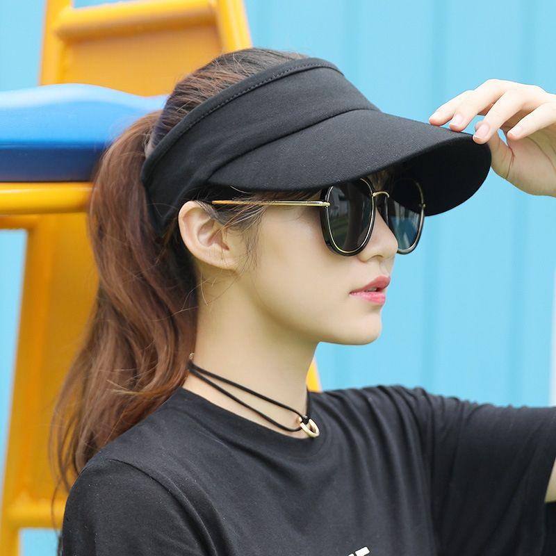 sole estivo faccia che copre tutto-fiammifero vuoto palla Top berretto da tennis senza top Cappello donna Tennis protezione del cappello del cotone del sole delle donne nlLck