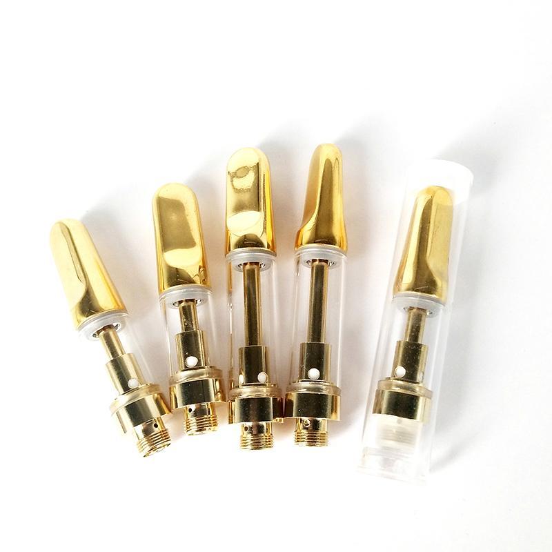 Melhor Qualidade de Ouro TH205 TH210 Vape Carrinho 0,5 ml 1,0 ml Atomizador Ceramic Bobina vaporizador Grosso Oil Cartridge Fit 510 Tópico Bateria
