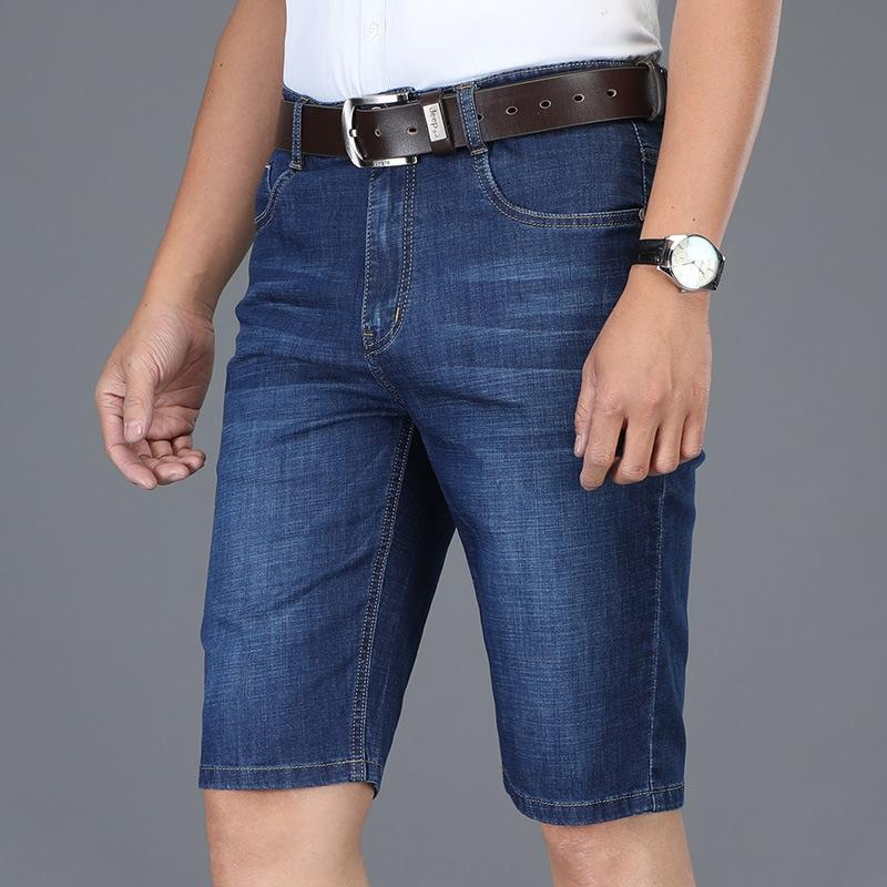 affaires en jean et un jean droit et un pantalon denim stretch d'été nouveaux hommes jeans lâches hommes minces short casual e9jyS