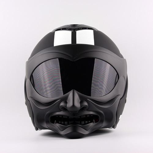 Nova moda personalidade Marushine C609 capacete da motocicleta que compete Meio capacete Marushin estilo guerreiro careta fresco Abrir rosto