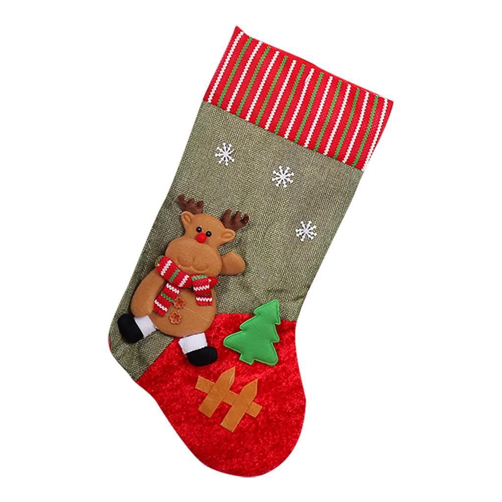 Украшение дерева Рождество Плюшевые С Рождеством Висячие конфеты кулон украшение украшения подарков Дерево Маленькие носки Носки bbyhMH hotclipper