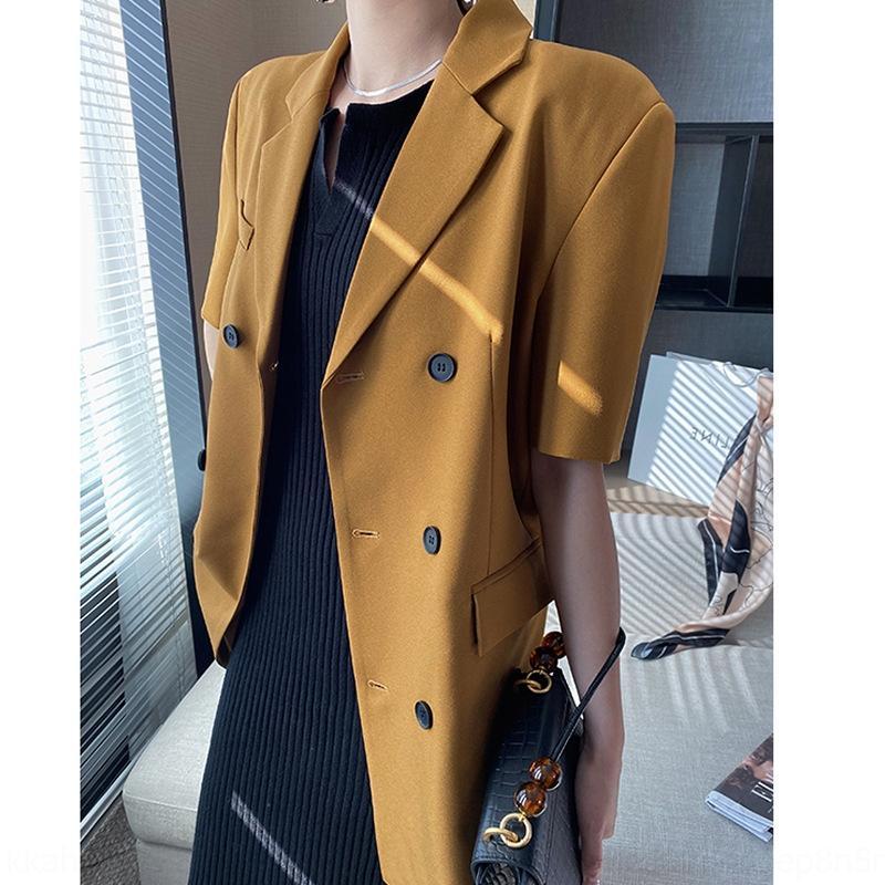 7uQb2 EK86E Sinn Mantel kurzärmeliges Jackett Frauen wo lose beiläufige Allgleiches Sensat Nische T20725-7 Design Sinn Nische kurzärmeligen Anzug