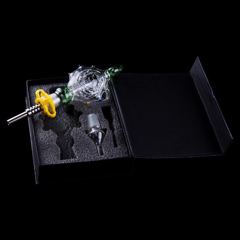 Hot vidro tubos com 14 milímetros 19 milímetros Domeless Titanium prego Quartz Dica Dabber Ferramenta Dab Rig Vidro Água Bongos DHL