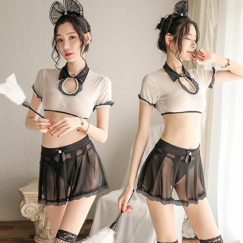 yvMob мило белье равномерная верхняя перспектива сетки юбка искушение сексуальное нижнее белье сексуальное Короткие юбки полую-outwaist набор
