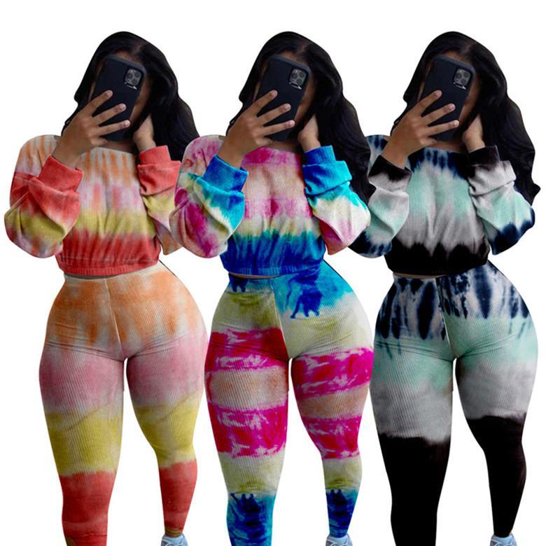 Mulheres de duas peças conjunto de calças de camisa de tracksuit roupas de manga comprida camisa de sportswear calças suor sweatsuit pulôver esportivo sportswear quente klw5006