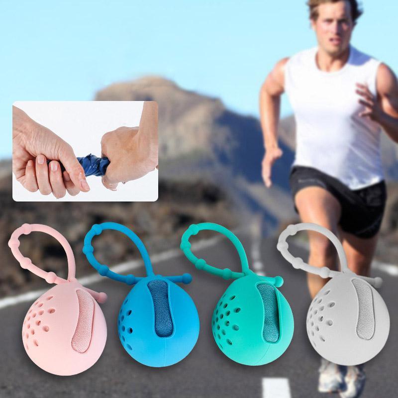 Portátil toalla del recorrido Toalla de secado rápido al aire libre de silicona caso plegable Mini compresión Correr Yoga Deportes Feeling Ice Cool