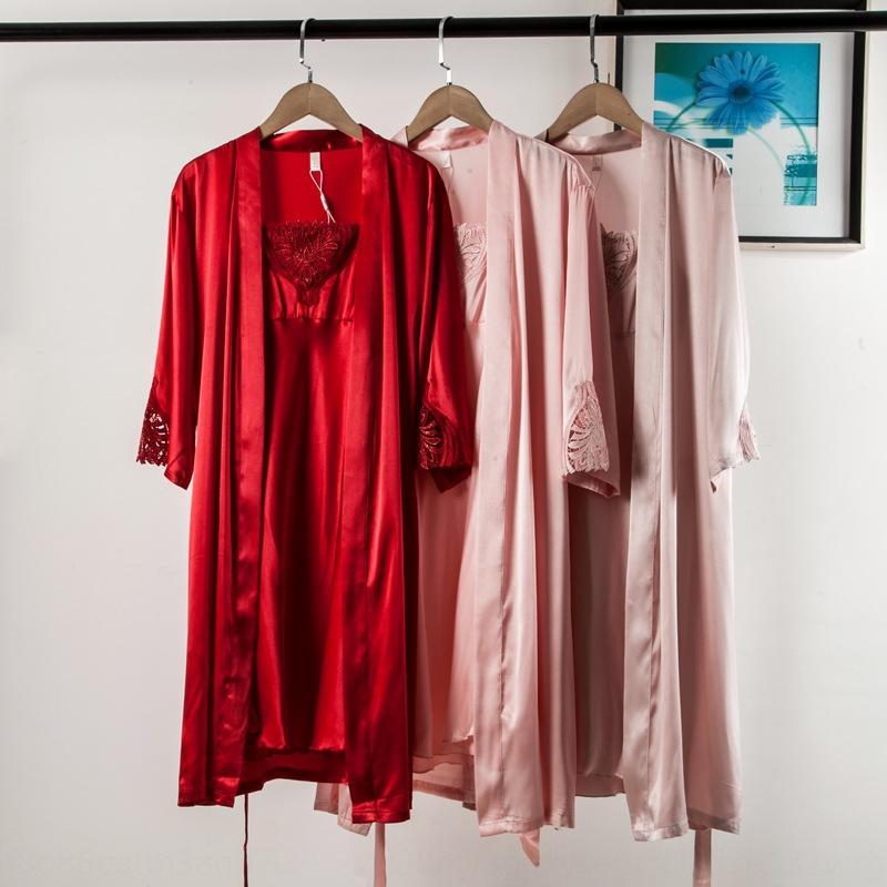 M4229-coreano fionda fionda bretella donne di stile del pannello esterno 2020 Estate lace-up gonna nuova bretella di pizzo kimono GKLie vestito