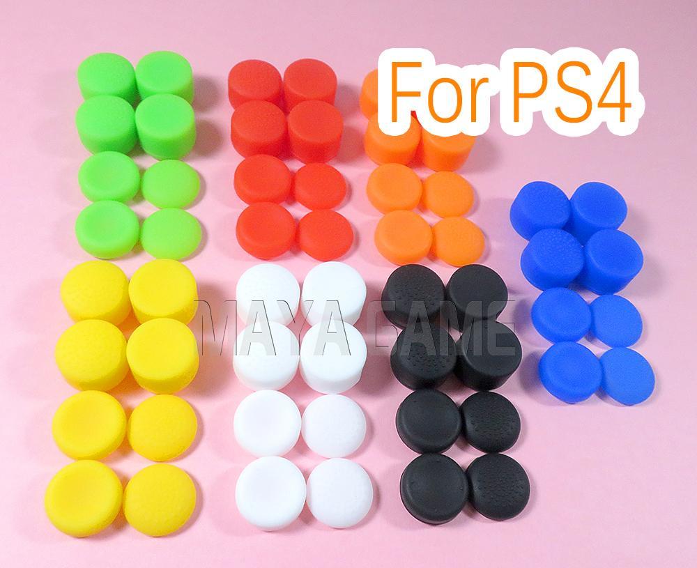 8pcs = 1 jeu pour Playstation 4 PS4 xbox360 xboxone Controller Silicone Pouce analogique 3d joystick bâton poignées augmenter la hauteur montée Bâton Cap