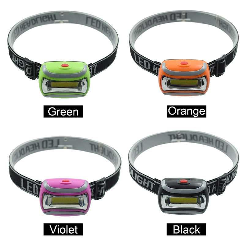 Waterproof 3 Modes Led Head Light 300LM Mini COB Head Lamp Frontal Mining Camping Headlamp Black/Green/Red/Orange