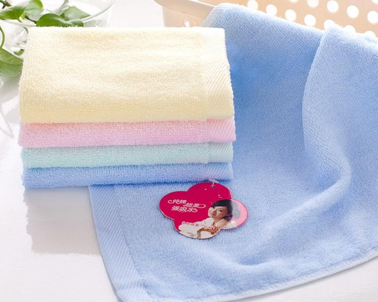 Factory direct sale bamboo fiber square towel for The child baby Small towel about 25x25cm Cotton 100% Face For kindergarten Baby Towels