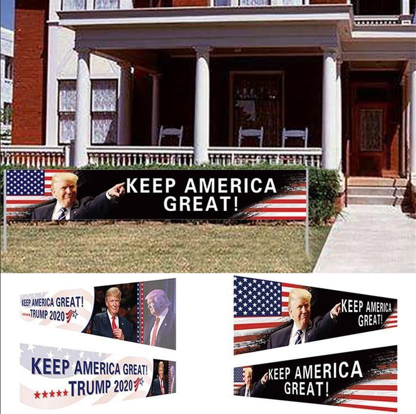 ABD Stok Amerika Büyük Bayrak 296x48cm Trump 2020 Cumhurbaşkanlığı Seçim Banner Trump Kampanyası Bayrak DHL Kargo tutun