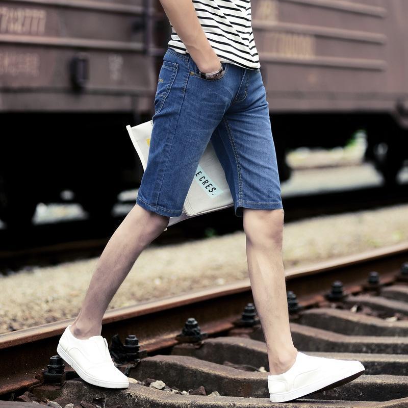 todo-fósforo delgado de los nuevos hombres de Corea recortada pantalones mitad de la longitud de los pantalones cortos de los hombres especial y pantalones jeans y los pantalones vaqueros precio TT206 gQhp7