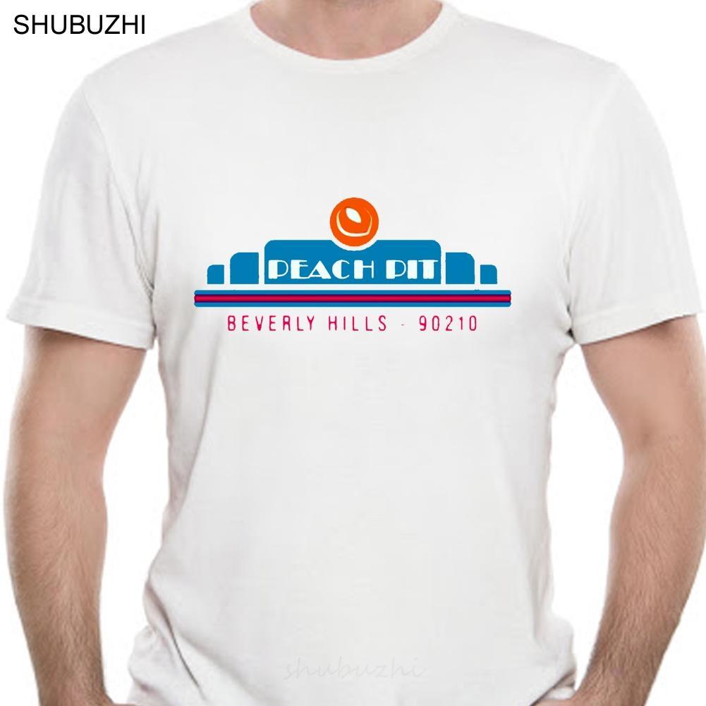 Das Peach Pit Beverly Hills 90210-Hemd-T-Shirt Weinlese-Grafik-Mode-T-Shirt Men Cotton Marke Teeshirt