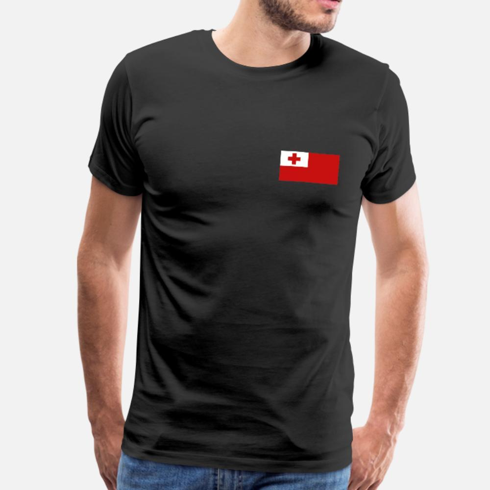 Bandera de Tonga hombres de la camiseta de manga corta linda O-Cuello Fotos Carta de Verano Humor lindo