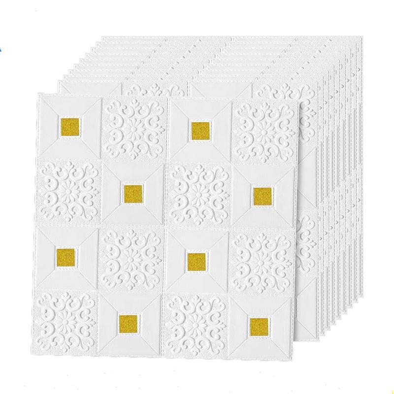 soffitto in mattoni adesivi decorazione adesivi murali Tetto soffitto 3D per soggiorno camera da letto TV sfondo adesivi in schiuma carta da parati