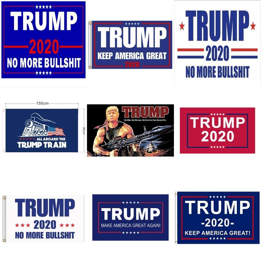 50Pcs 2020 Donald TrumpBiden Bandiere piccola bandiera Presidente Elezione tenuti in mano Trump Stick Banner Keep America Grande per la decorazione domestica # 902