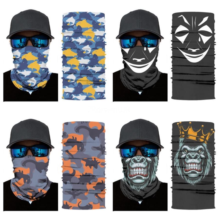 Kamuflaj Yürüyüş Kafatası Eşarp Baş Bandana Yüz Maske Boyun Snood İçin Açık Kamp Bisiklet Kamuflaj Tüp Sihirli Sorunsuz Kafatası Eşarp # 983 # 556