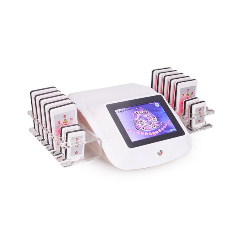 새로운 도착 효과적인 LipoLaser 슬리밍 장비는 빠른 뚱뚱한 불타는 리무버 바디 zerona 레이저 체중 감소 기계 14pcs 패드를 형성
