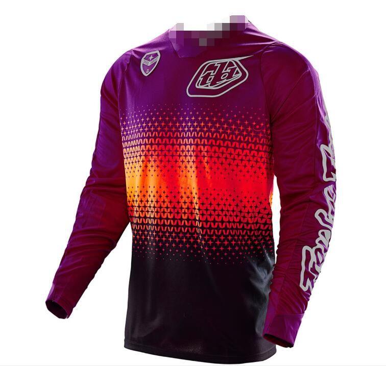 TLD cuesta abajo camiseta de bicicleta de montaña en bicicleta desgaste del verano de la camisa de los hombres desgaste de manga larga fuera de la carretera de la motocicleta de manga corta