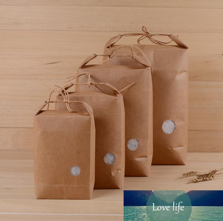 300pcs emballage en papier de riz / thé sac en papier carton d'emballage / mariage sac en papier kraft de stockage des aliments SN697
