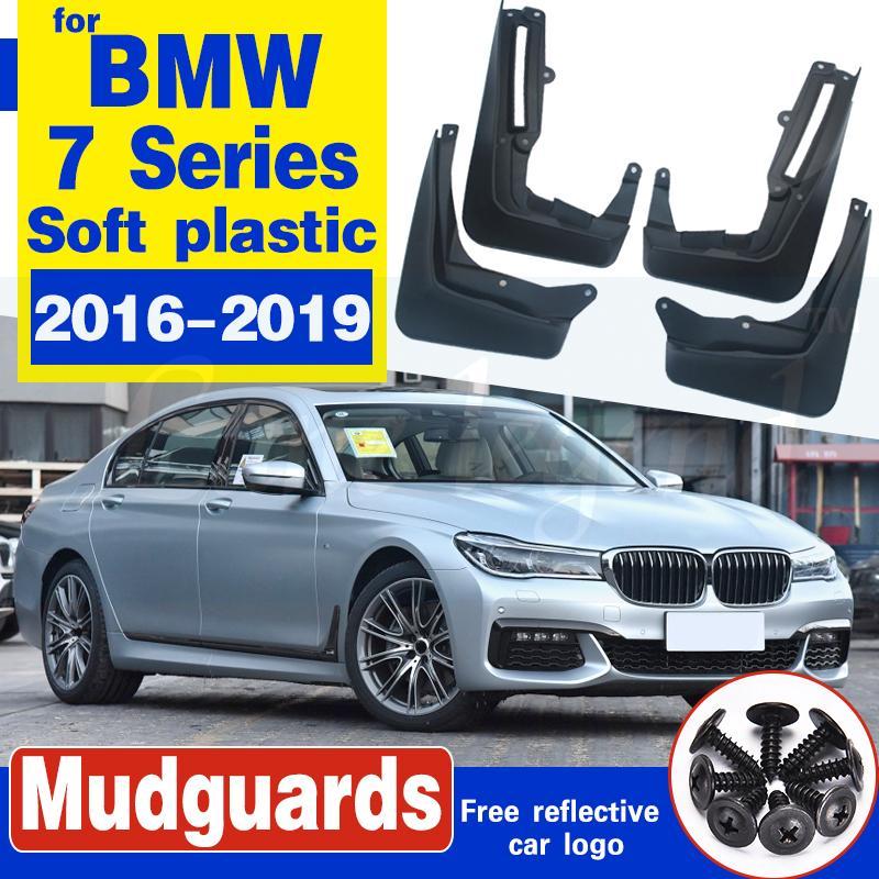 Avant Arrière voiture Bavette pour BMW Série 7 G11 2016 ~ 2019 Fender boue Garde Flap Splash Rabats Accessoires Garde-boue 2017 2018 6 Gen