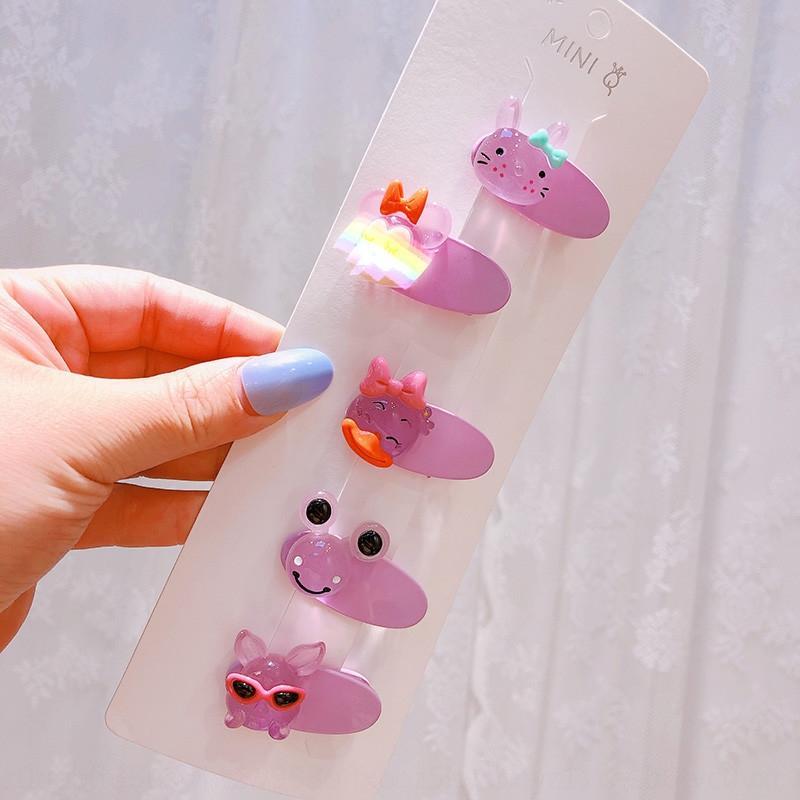 642 фиолетовый желе Кролик Кролик ~ комаров новых детей светящемся светящихся шпилька мило сторона клип челка шпилька аксессуары для волос T