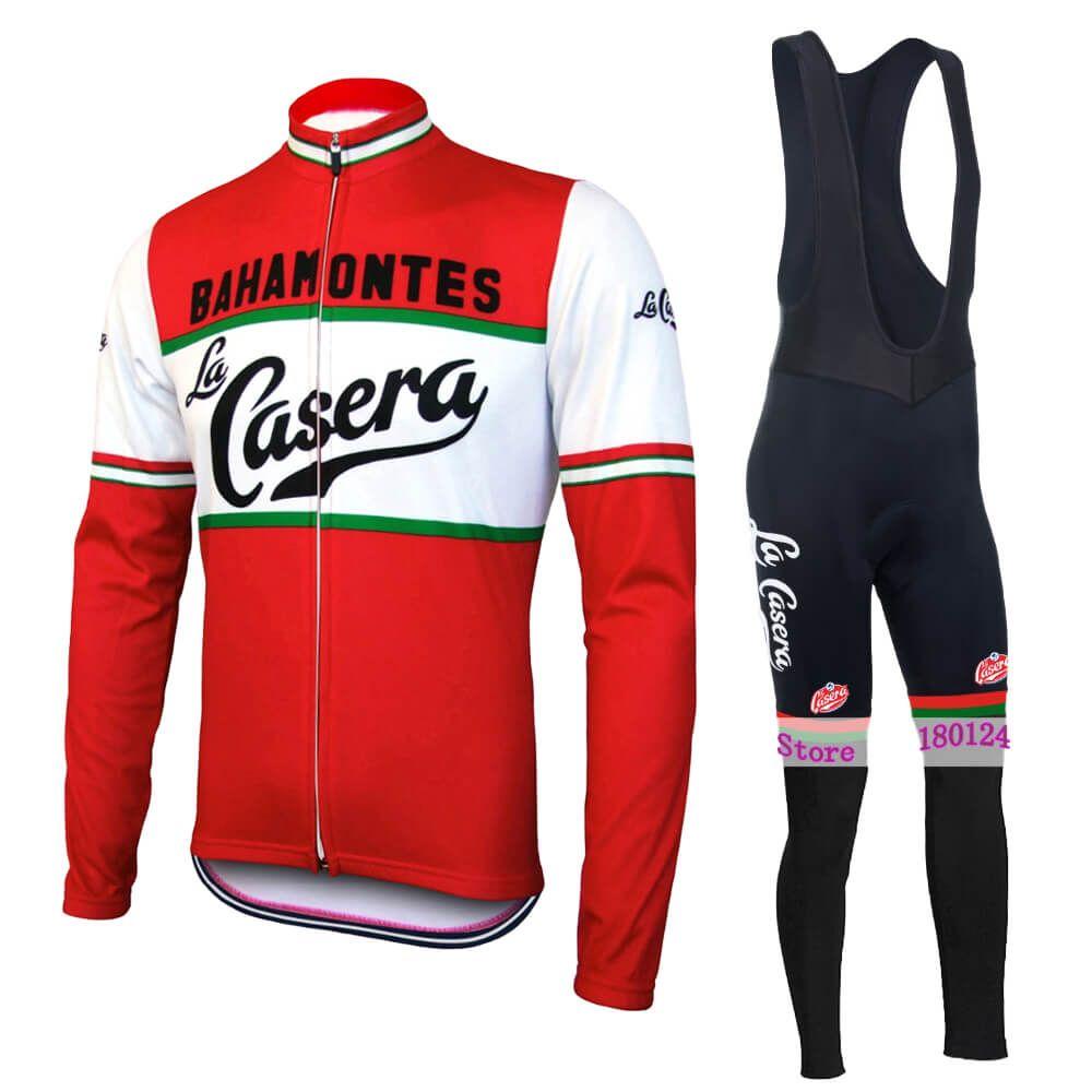 클래식 복고풍 자전거 저지 남성 긴 소매 겨울 양털없이 양털 자전거 의류 도로 사이클링웨어 타이츠 로파 ciclismo 아저씨