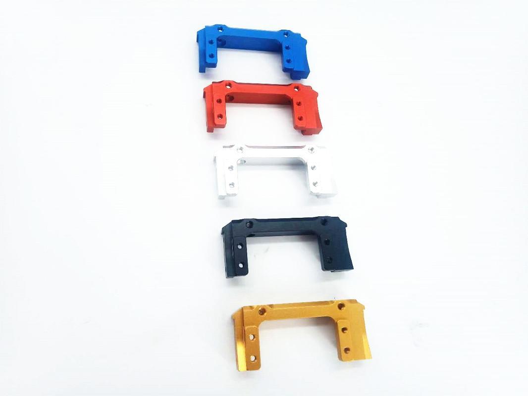 Ön Işın Parantez Tampon Dağı Metal 1/10 Aksiyel SCX10II 90046 RC Paletli Off-road Araç Metal Servo Yer Değiştirme Tampon için