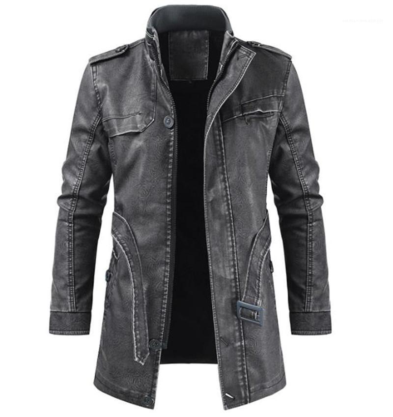 Jacket Casual Sólidos Brasão Cor Zipper Mens Moda Fique Collar Jacket Designer Mens PU