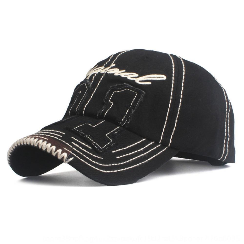 venta caliente lavado de béisbol de béisbol de algodón bordado de la manera del paño exterior del casquillo del sombrero del sol del casquillo del sombrero de los hombres