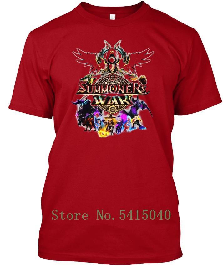 Collar Summoners Rodada Guerra Tagless Tee T-shirt do costume T fresco dos homens T-shirt da aptidão extragrandes camiseta roupas de homem