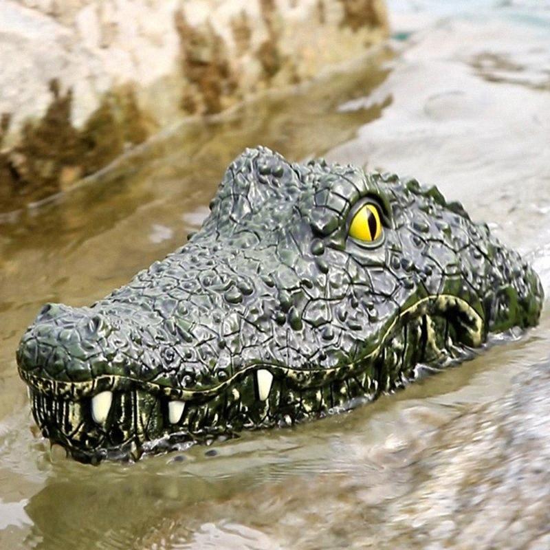 Дети Spoof крокодилов дистанционного управления лодкой плавать бассейн Sailing игрушки Водонепроницаемый аккумуляторная система бассейн аксессуары k1BP #