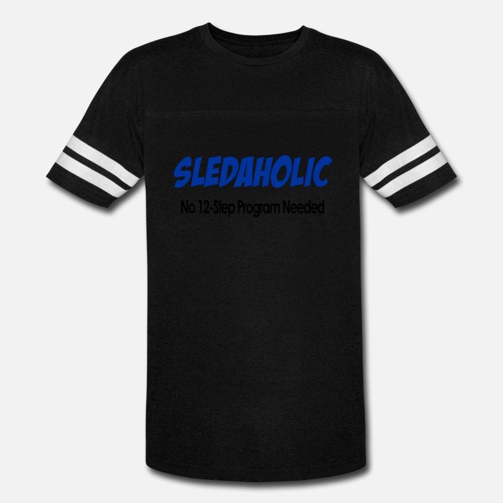 Sledaholic 12-Schritte-Programm T-Shirt Männer schaffen 100% Baumwolle Euro-Größe S-3XL Kawaii Fitness Humor Sommer-Art-Bilder Hemd