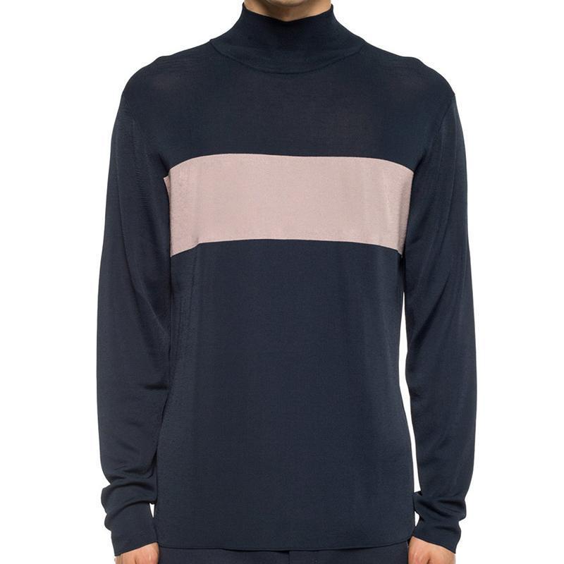 19FW Color Matching Amicor Crewneck Knitting T-Shirt-Straße Skateboard Pullover Männer Frauen Frühlings-Herbst-beiläufige Outwear HFYMMY040