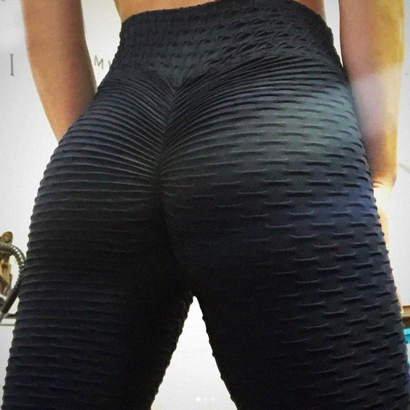 Stampa Leggings donne femmina sottile di colore della caramella jacquard vita alta Pantaloni Sport traspirante Digital pantaloni di yoga fitness sportivo v1sA #