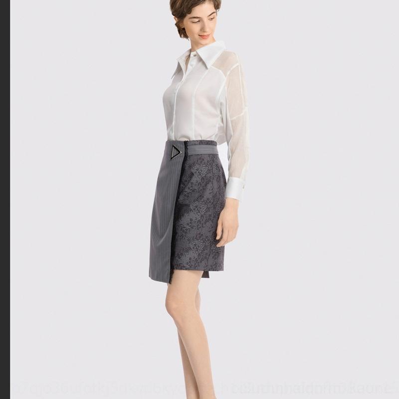 upJ5S corta 20 del verano del nuevo temperamento de las mujeres de encaje asimétrico corto falda de encaje costura LL Falda de talle alto 120219C6936523