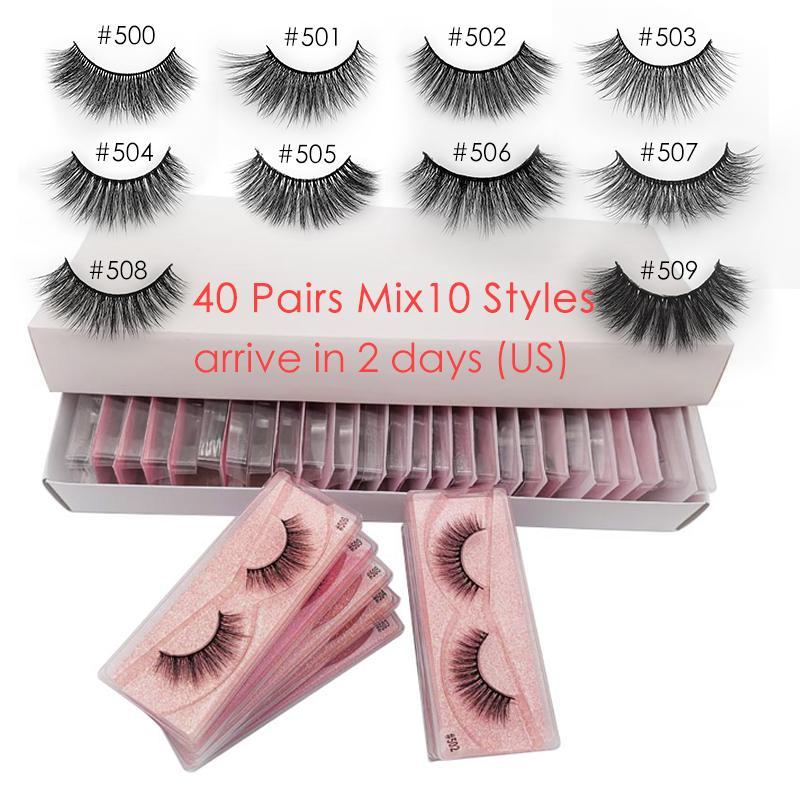 20/30/40 paires Vison Cils gros naturel 3D Vison cils Maquillage Wispy extension Faux cils en vrac cilios Maquiagem