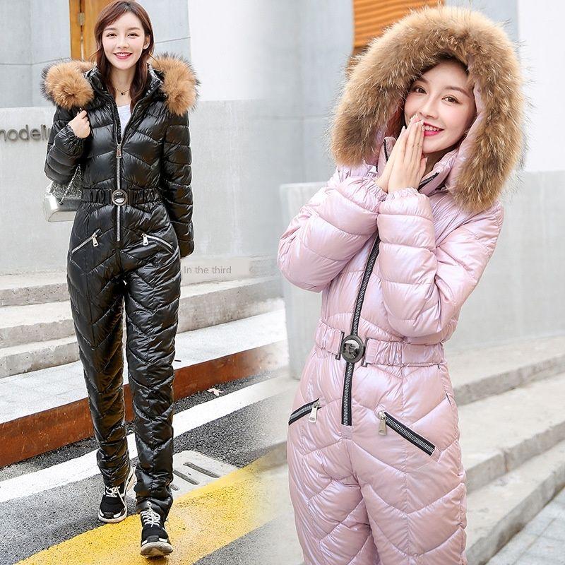 zzbjY einteiliger 2020 Winter neuen Ski-Ski-Frauen 2020 Winter-neue einteilige Kleidung Kleidung Damen-Baumwolle gefütterte Yd04z Anzug Baumwolle gepolsterte Anzug