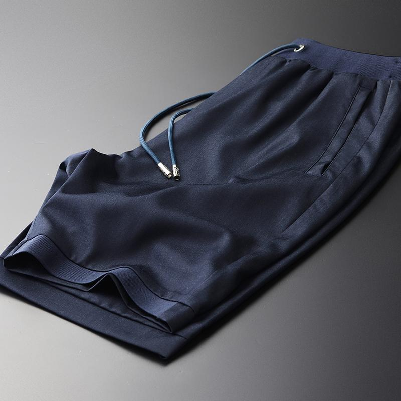 Tencel Pants Mens Plus Size 4XL Qualité Hight Silky été mince Hommes Pantalon court Ventiler Casual Cool à Pantalons pour hommes