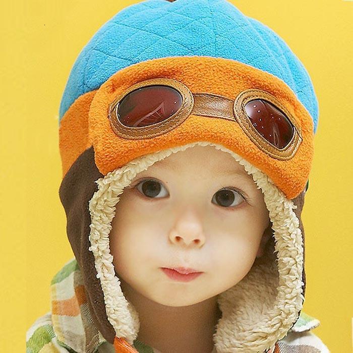 10 a 48 Meses 4 Cores Toddlers legal da menina bebé infantil Pilot Inverno Quente Crianças Cap Hat Beanie 827 ofertas