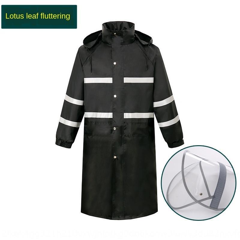 Raincoat langer Trenchcoat einteiliger verdickte Mantel Windjacke Windjacke einzige Outdoor erwachsene Männer und Wander Unterkunft Frauen Poncho Bl
