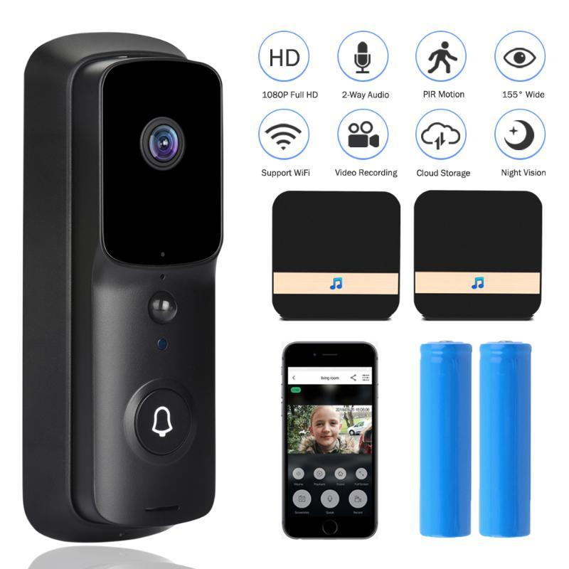 1080P HD Video Doorbell Smart Home WI-FI Video Door Phone IP Intercom For Apartments Wireless Security Camera