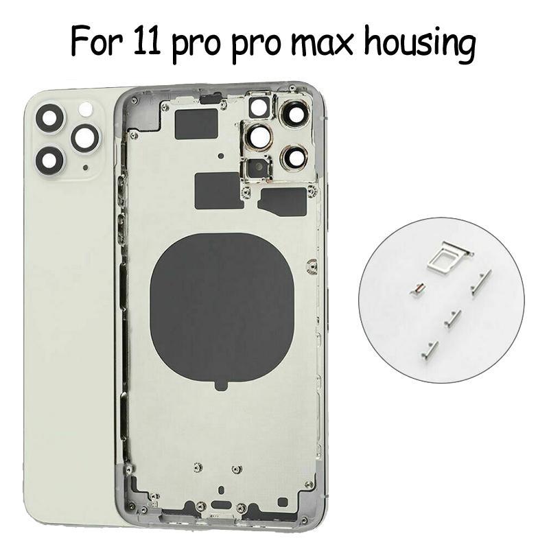 Meilleure qualité pour iPhone 11 PRO Pro Max Back Verre Cadre central Chassis de boîtier de boîtier complet de la porte de la batterie