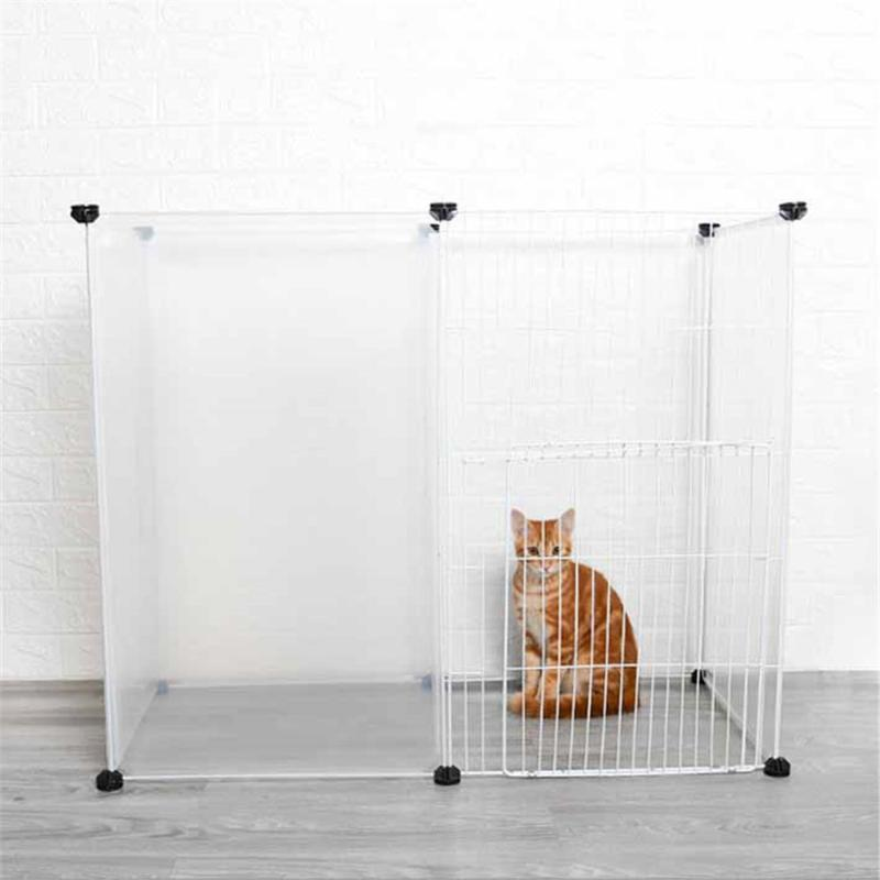 DIY Pet House Playpen Dog Cage Indoor Iron Fence Foldable Puppy Kennel Cat Kitten Gate Exercise Training Space Guinea Pig