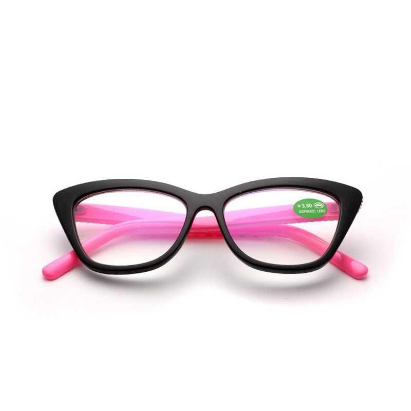 Sonnenbrille scheinbar gelesen Gläser Katze Eye Frauen Mode Vintage Ultraleicht Computer Presbyopic Reader Eyewear Mirror Brillen Unisex