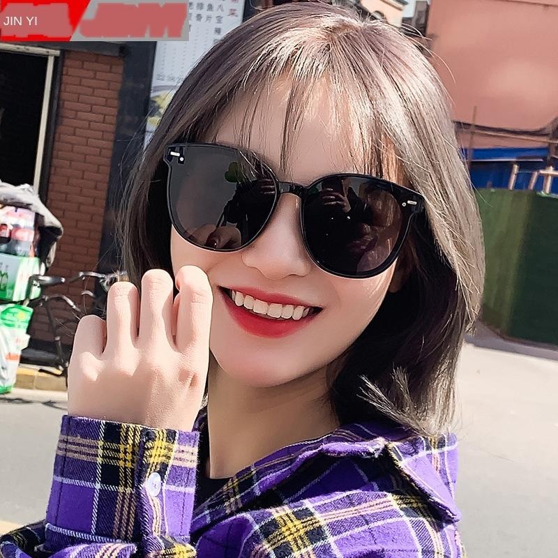 2020 nuevas gafas de sol grandes cara del sol del estilo de Corea de las mujeres que adelgaza Qi Wei mismo sol estilo de gafas UV a prueba de internet popular calle fotografía i3